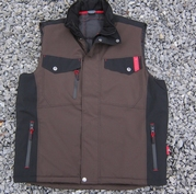 Tweekleurige softshell Bodywarmer